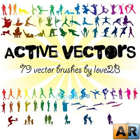 People Vector Brushes