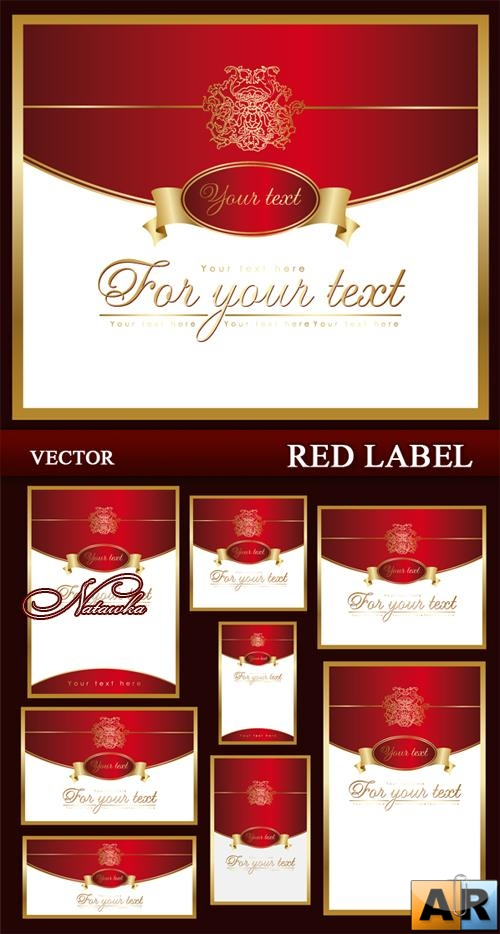 Red label - vector