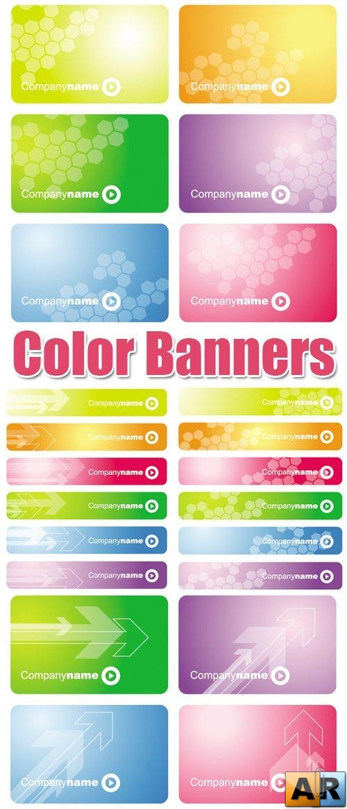Color Banners Vector