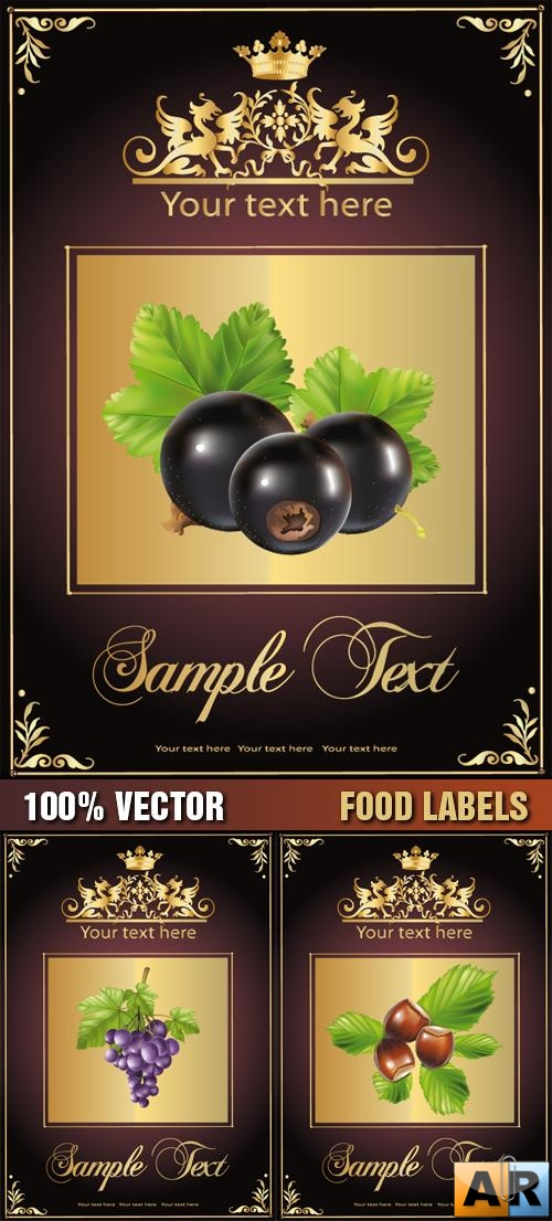 Stock Vector - Food Labels