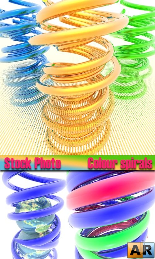 Stock Photo Colour spirals