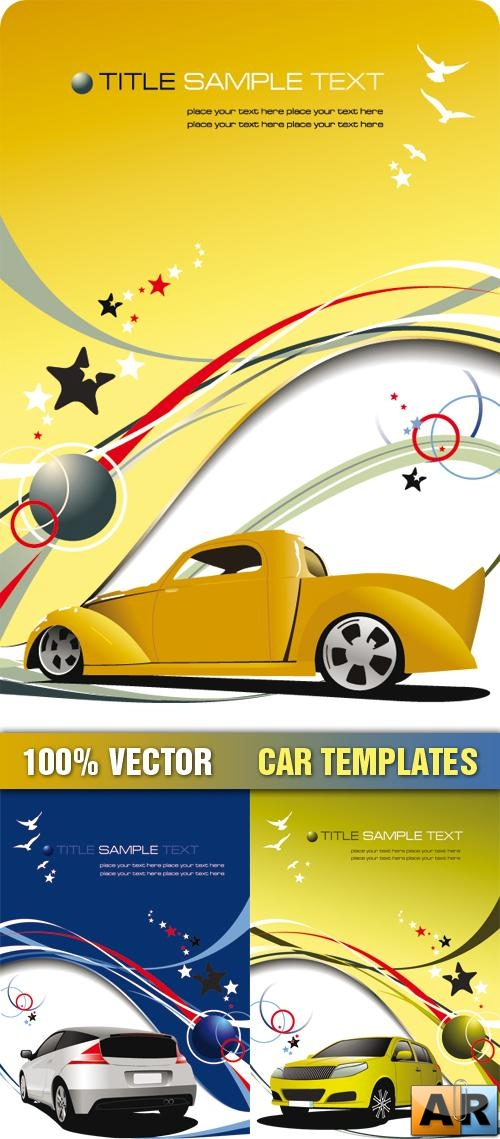 Stock Vector - Car Templates