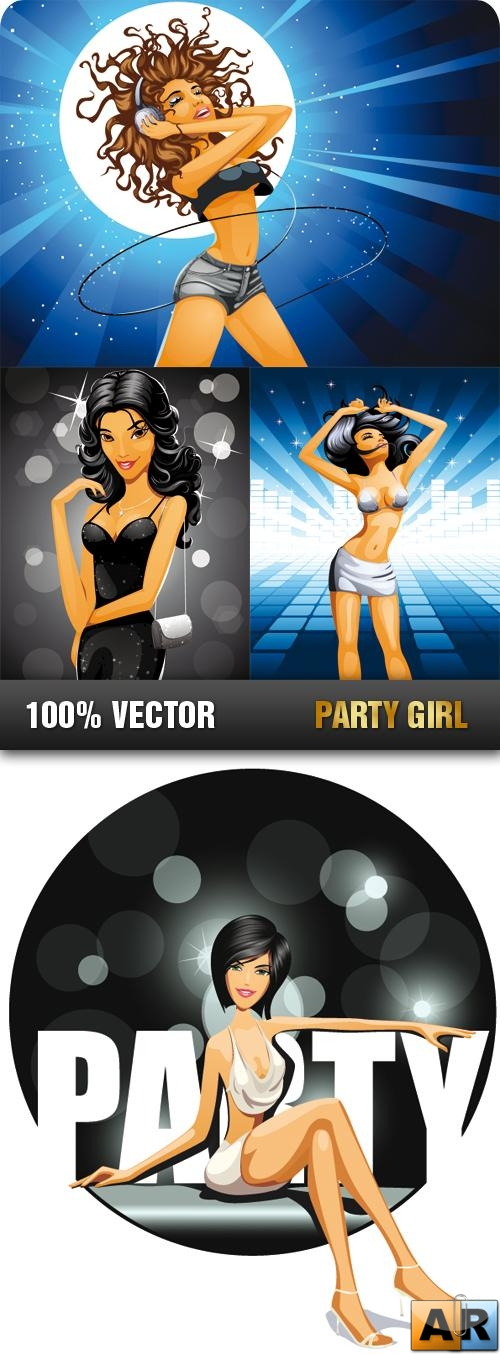 Stock Vector - Party Girl