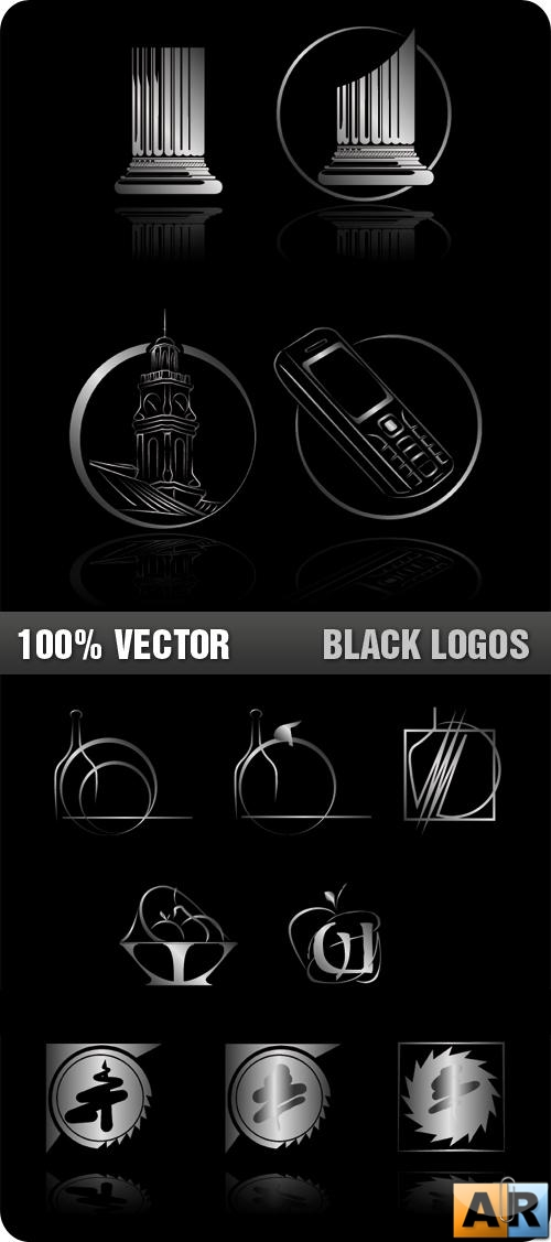 Stock Vector - Black Logos