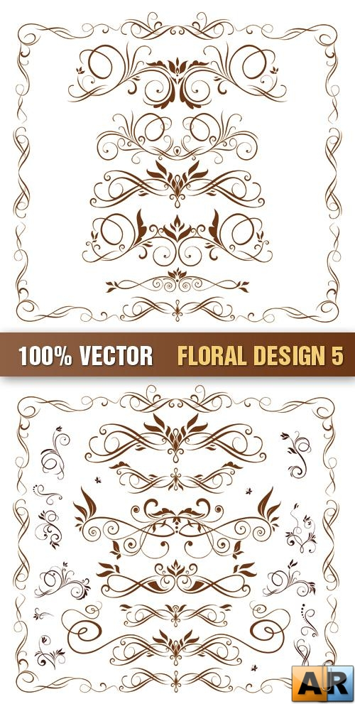 Stock Vector - Floral Design 5