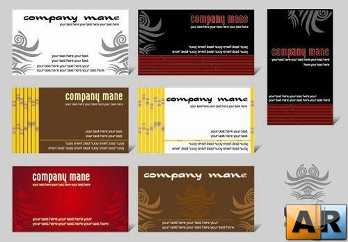 SS Business cards vectors 3