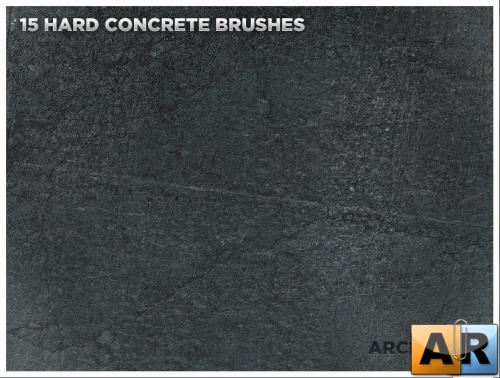 Кисти для Photoshop Hard Concrete Texture Brushes