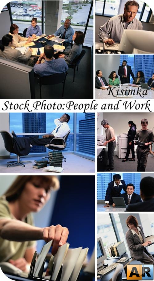 Stock Photo:  People and Work