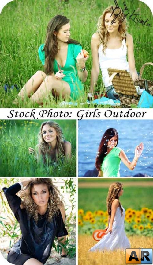 Stock Photo: Girls Outdoor