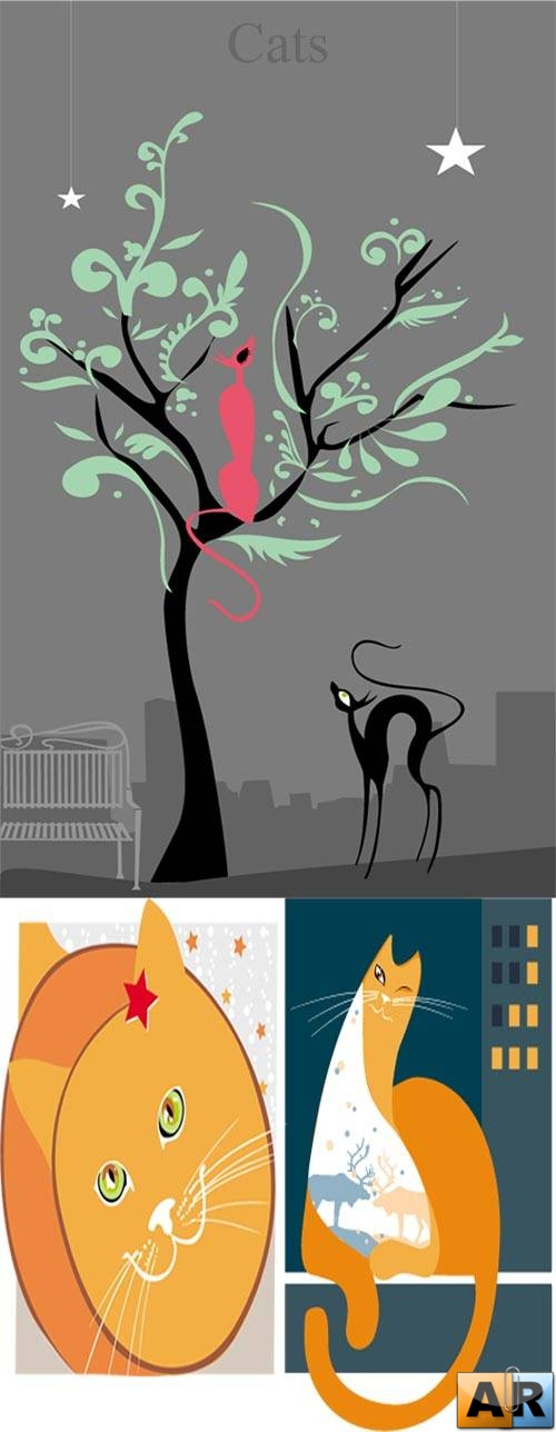 Stock vector - beautiful cats