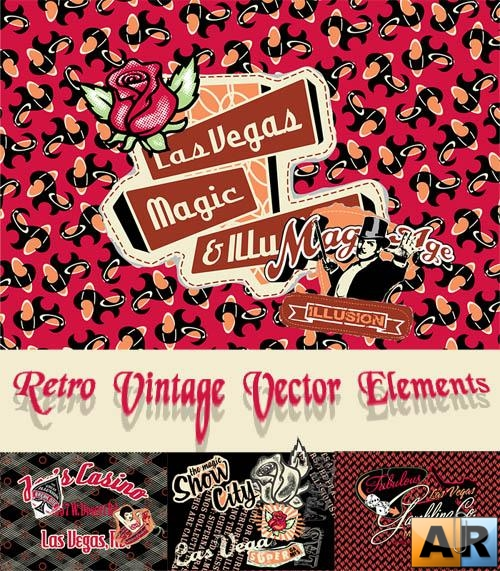 Retro Vintage Vector Elements