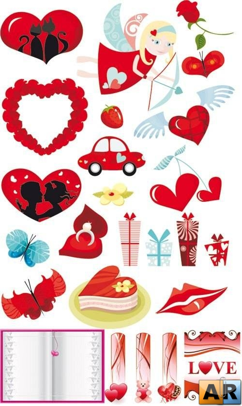 Vector stock - Love heart Collection Vector