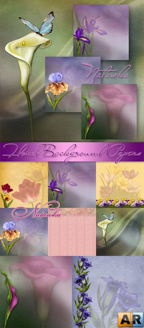 Luscious Floral Background Papers I