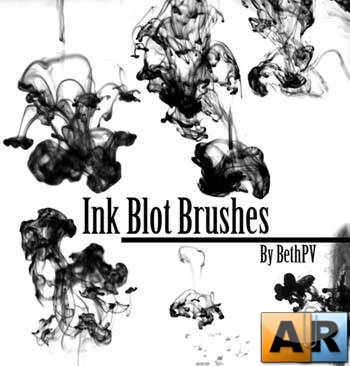 Ink Blots Brushes by BethPV