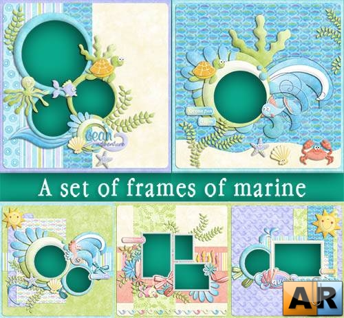 A set of frames of marine