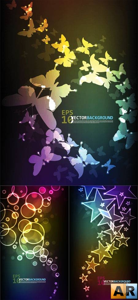 Colorful Abstract Backgrounds Vectors