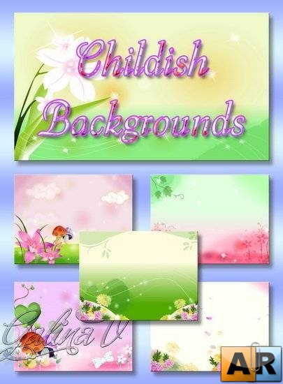 Childish Backgrounds PSD