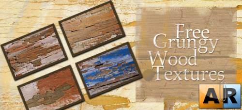 10 High-Res Grungy Wood Textures