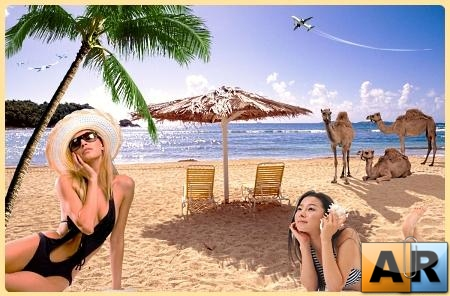 Beach Girls PSD Template