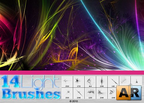 Кисти для Photoshop – Light streak brushes 2010