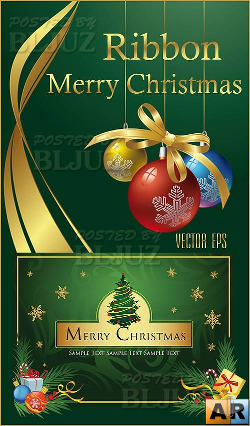 Ribbon Merry Christmas