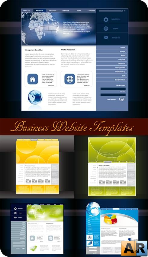 Шаблоны сайтов. Business Website Templates - Vectors