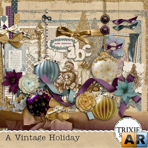 "Скрап - набор ""A Vintage Holiday"""