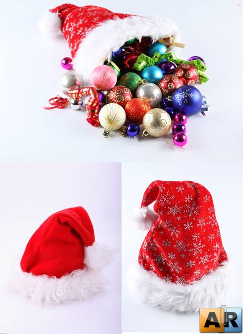 Stock Photo: Santa Hats!