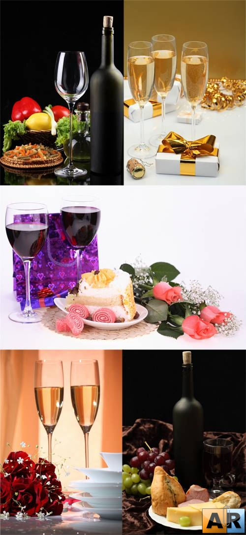 Stock Photo: Wine & glasses!