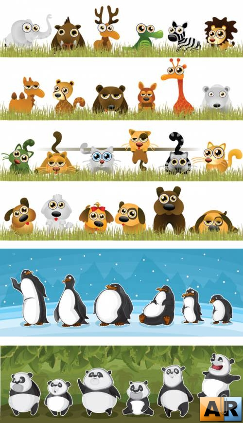 Vector Funny Animals