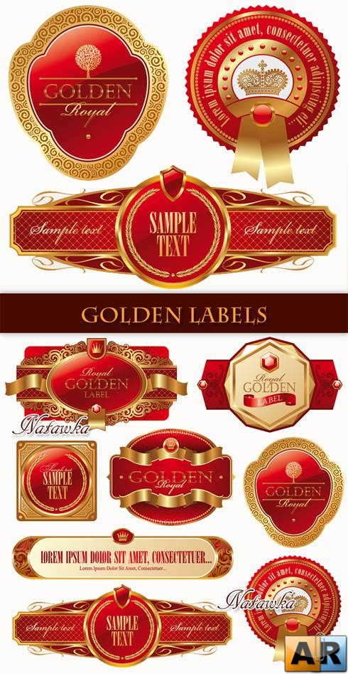 Этикетки вектор. Golden Labels - Stock Vectors