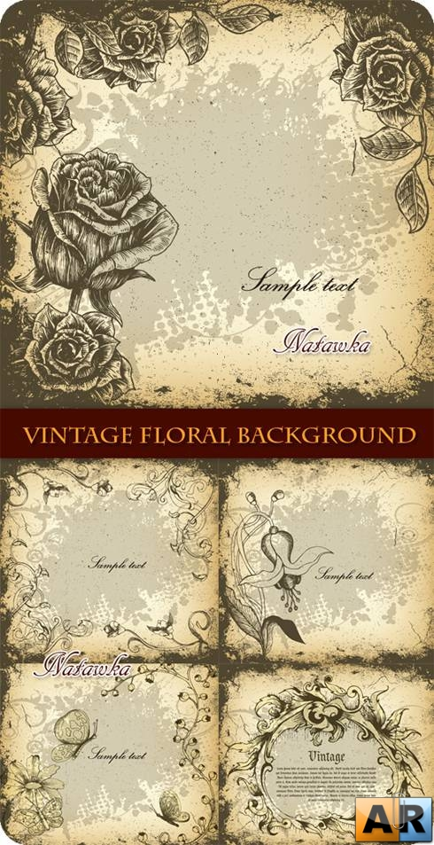 Винтажные фоны. Vintage Floral Backgrounds - Stock Vectors