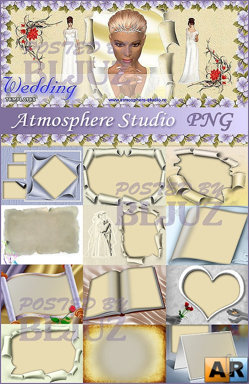 Atmosphere Studio 3 Wedding Templates PNG