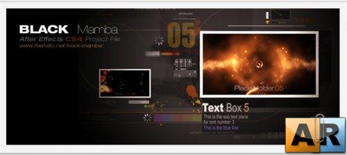 Videohive AE Project Black Mamba