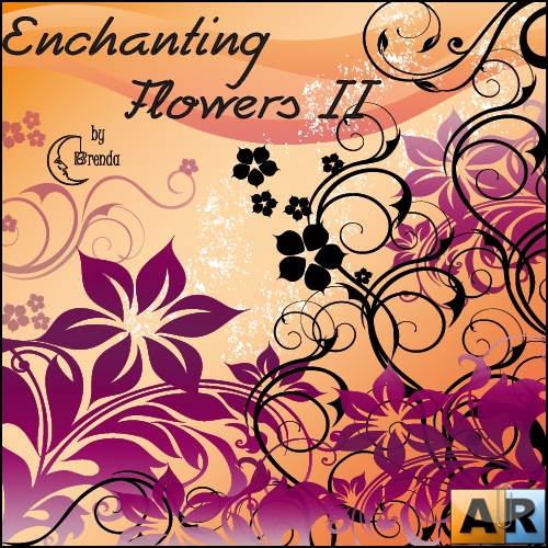 Кисти для Photoshop - Enchanting Flowers II by Brenda