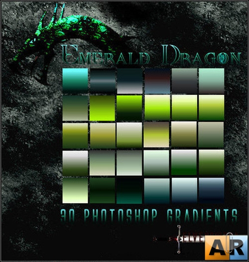 Градиенты для Photoshop - Emerald Dragon Gradients