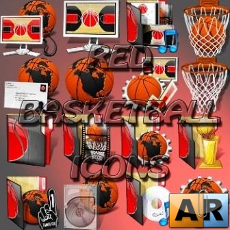 RED BASKETBALL ICONS