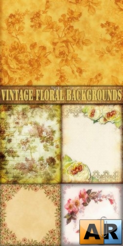 Цветочные фоны для Adobe Photoshop / Vintage Floral backgrounds for Adobe P ...