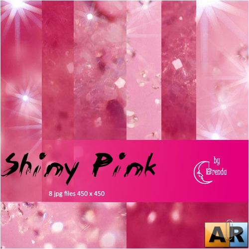 Текстуры для Photoshop - Shiny Pink Textures by Brenda