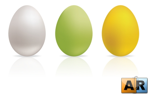 Easter Eggs Set1 Vector