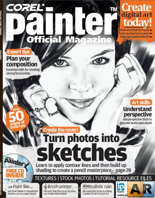 Corel Painter Magazine issue 16 - Turn Photos into Sketches