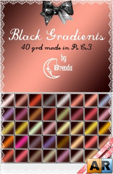 Градиенты для Photoshop - Black Gradients by Brenda