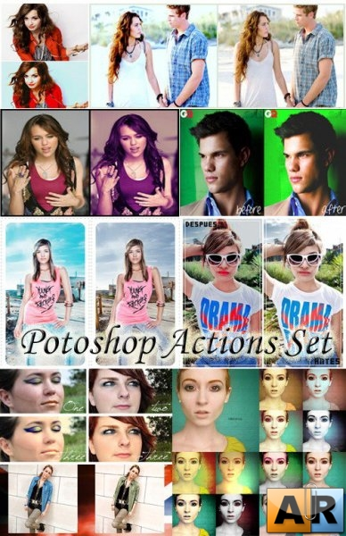 Photoshop actions set