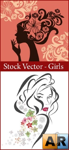 Stock Vector - Girls 2 ai + eps