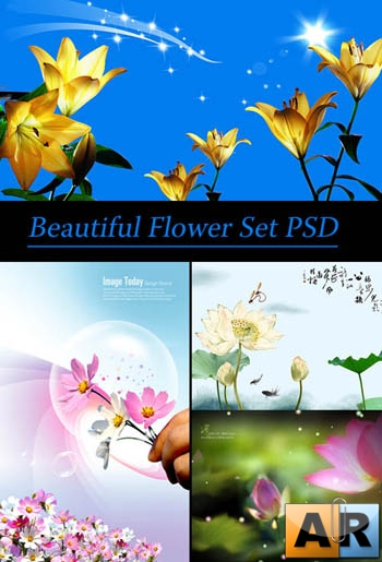 Beautiful Flower Set PSD