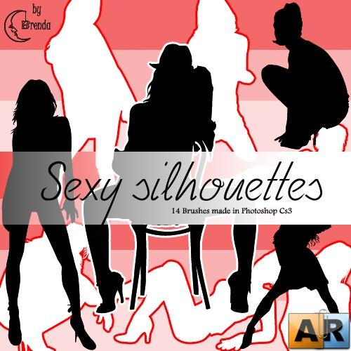 Кисти для Photoshop - Sexy Silhouettes Brushes by Brenda