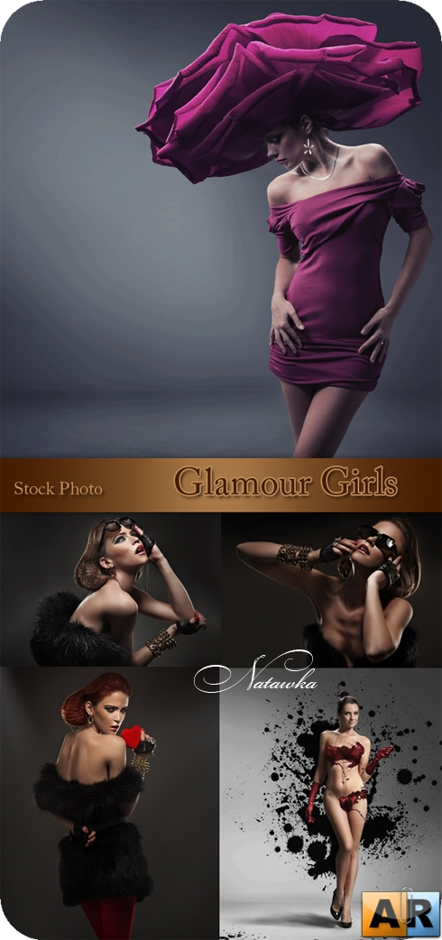 Glamour girls - Stock Photo
