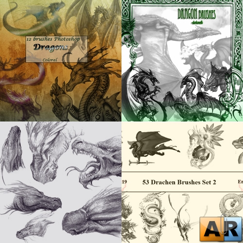 Dragon Brushes (5 наборов)