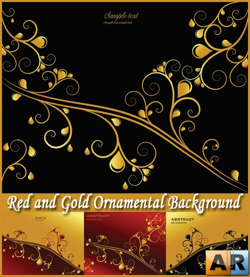 Red and Gold Ornamental Background - Stock Vectors