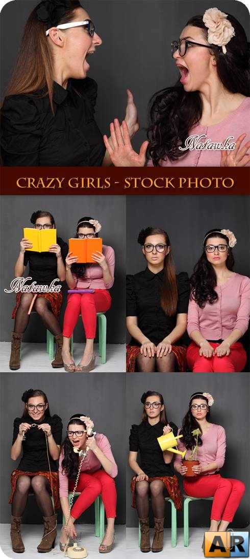 Crazy girls - Stock Photo